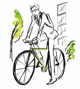 RE:DAY イラスト 自転車出勤